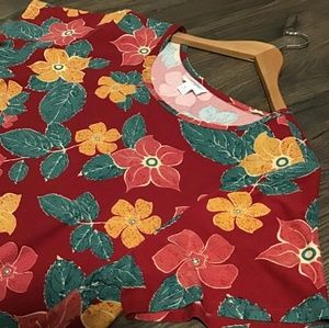 LULAROE high-low floral dress